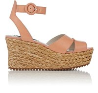 Alice Olivia And Women's Roberta Platform Wedge Sandals Peach Size 5.5