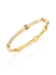 Marli Pyramide Diamond And 18K Yellow Gold Boheme Oval Bangle Bracelet