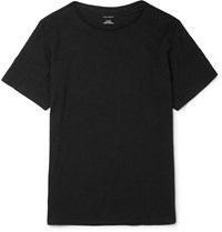 Club Monaco Cotton Jersey T Shirt Black