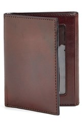 Bosca Men's 'Old Leather' Trifold Wallet Brown Dark Brown