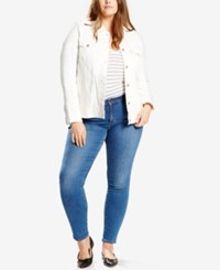 Levi's Plus Size Trucker Denim Jacket Frosted White