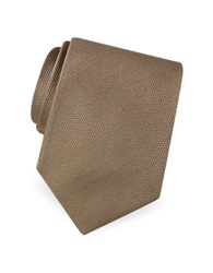 Forzieri Gold Line Solid Woven Silk Tie Tan