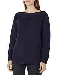 Reiss Amy Boat Neck Sweater Night Navy
