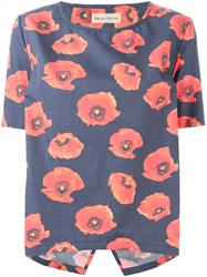 Libertine Libertine 'Aside' Poppy Print Top
