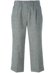Brunello Cucinelli Cropped Trousers Black