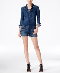Hudson Jeans Lane Cutoff Denim Romper Aviator