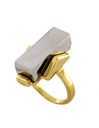 Bcbgeneration Two Tone Geometric Ring