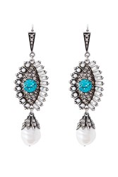 Alexander Mcqueen Eye Embellished Earrings Multicolor