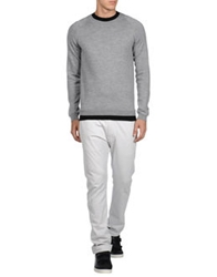 Adidas Slvr Crewneck Sweaters Light Grey