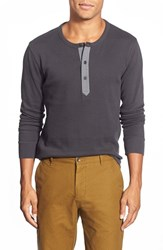 Men's Wallin And Bros. 'Kinison' Trim Fit Long Sleeve Henley Grey Phantom
