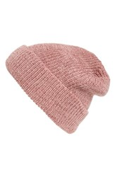 Hinge Women's Slouchy Cuff Beanie Red Red Combo