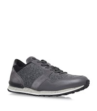 Tod's Vascular Flannel Active Runner Sneakers Male Grey