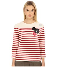 Marc By Marc Jacobs Breton Stripe Top Breton Red Multi Women's T Shirt