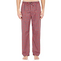 Barneys New York Men's Plaid Pajama Pants Red Blue Red Blue