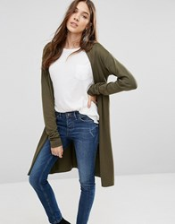 Blend She Camille Longline Cardigan Ivy Green