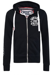 Superdry Track And Field Zip Hoodie Navy