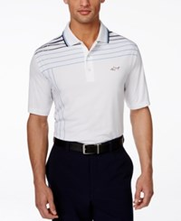 Greg Norman For Tasso Elba Men's Partially Striped Performance Polo Only At Macy's