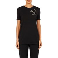 Nina Ricci Women's Sequin Embellished T Shirt Black Blue Black Blue