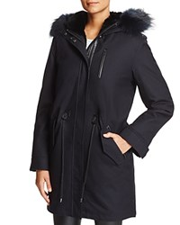 Mackage Rena Fur Trim Parka Navy