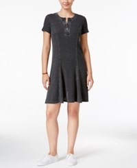 G.H. Bass And Co. Burnout Fit And Flare Dress Black