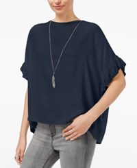William Rast Jett Flutter Sleeve Top Dress Blue