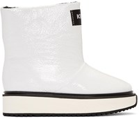 Kenzo White Shearling Moon Boots