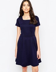 Sugarhill Boutique Carissa Fit And Flare Ponte Dress Navy