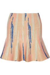 Issa Printed Stretch Jacquard Mini Skirt