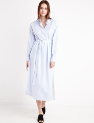 Pixie Market Long Striped Belted Shirt Dress