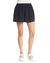 Vince Pleated Silk Pull On Shorts Women's Size S Coastal