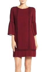 Kut From The Kloth Women's Lace Shift Dress Oxblood