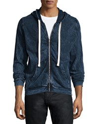 Sol Angeles Dyed Indigo Zip Up Hoodie Dark Blue