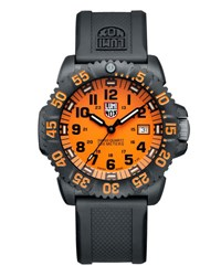 Luminox 44Mm Navy Seal 3050 Series Colormark Watch Orange