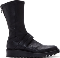 Ma Julius Black Calf High Leather Boots
