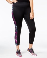 Ideology Plus Size Fleece Lined Leggings Only At Macy's Noir