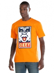 T Shirts Obey Mega Dose Basic Tee Orange