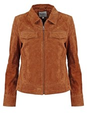 Pepe Jeans Jessica Leather Jacket Tobacco Camel