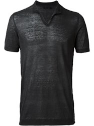 Transit V Neck T Shirt Black