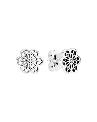 Pandora Design Pandora Earrings Sterling Silver Floral Daisy Lace Studs