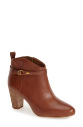 Lucky Brand 'Mabina' Stacked Heel Bootie Women Chipmunk Leather