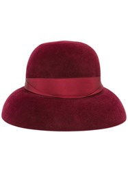 Borsalino 'Audrey' Hat Red
