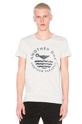 Scotch And Soda Shortsleeve Tee With Monochrome Artwork Blue