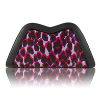 Feather M Tuesday Clutch Leopard Pink Pink Purple