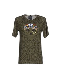 Laneus Topwear T Shirts Men Military Green