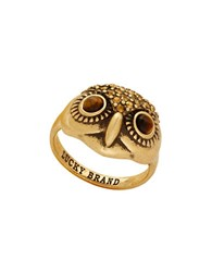 Lucky Brand Owl Ring Gold
