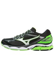 Mizuno Wave Ultima 8 Cushioned Running Shoes Black White Green Gecko