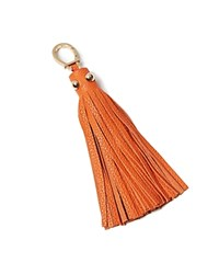 Etienne Aigner Long Pebbled Tassel Key Fob Tangerine