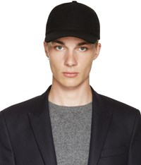 A.P.C. Black Wool Cap