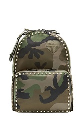 Valentino Valentino Cash And Rocket Camouflage Rockstud Backpack Green