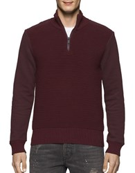 Calvin Klein Jeans Ottoman Tube Terry Sweater Bordeaux
